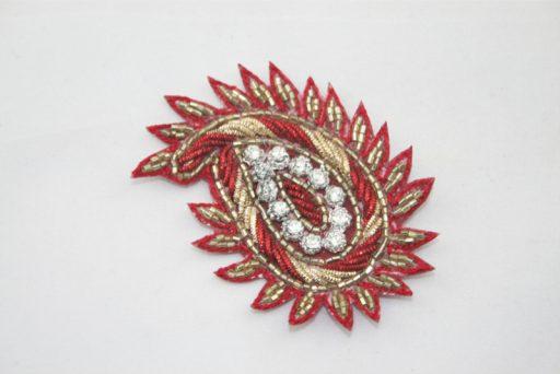 Indian Paisley Motif Red