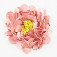 Beaded Sequin Flower Matte Peach