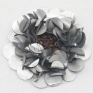 Beaded Sequin Flower Matte Silver