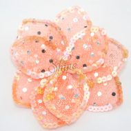 3D Large Flower Motif with Pin Apricot