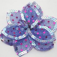 3D Large Flower Motif with Pin Lilac