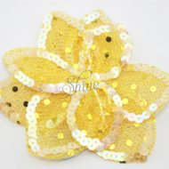 3D Large Flower Motif with Pin Lemon Yellow