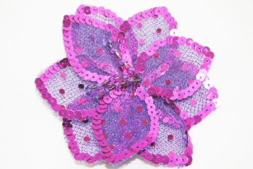 3D Large Flower Motif with Pin Cerise Pink