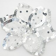 3D Large Flower Motif with Pin Silver