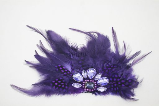 Feather Motif with Jewels Purple