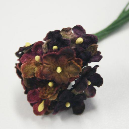 Forget Me Not Velvet Flower Bunch Burgundy