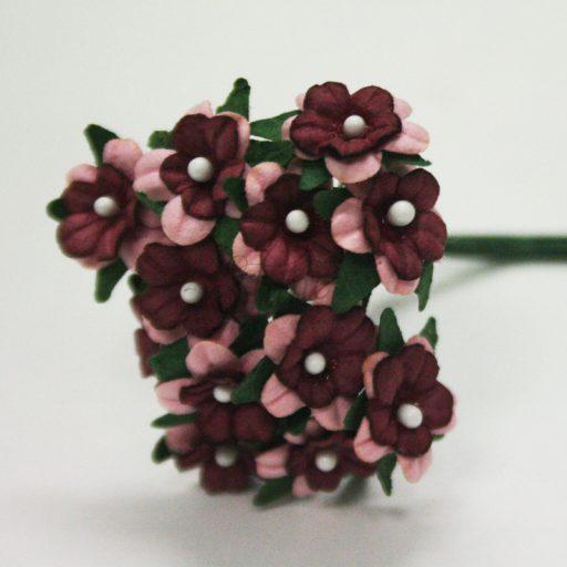 Mini Paper Daisy Bunch Burgundy