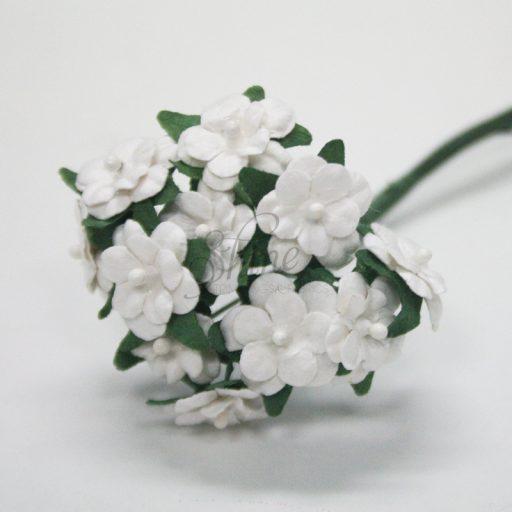 Mini Paper Daisy Bunch White Green