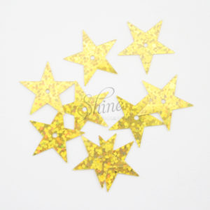 Sequin Star Yellow Gold Sparkle