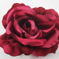 Extra Large Rose with Pin Burgundy
