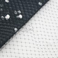 Spotted Hat Veiling Black & White