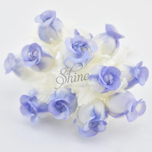 Bunch of Small Rosebuds Cream/Lilac