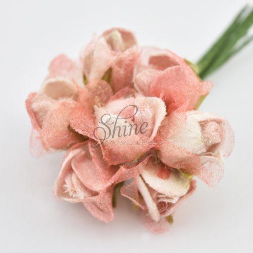 Velvet Rosebud Posy Fairy Pink