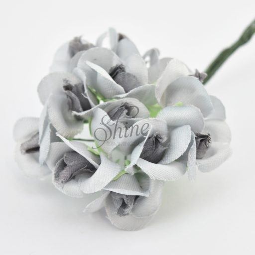 Bunch of Small Rose Blooms Grey