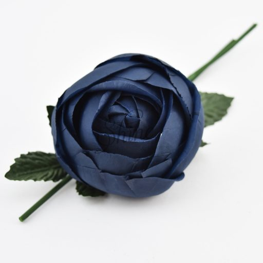 Large Closed Rose Navy