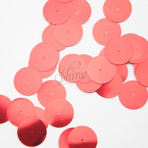 Flat 20mm Sequin (hole centre) Red