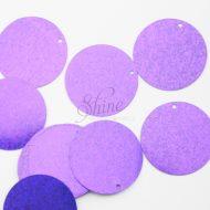 Flat 30mm Sequin (hole top) Purple Sparkle