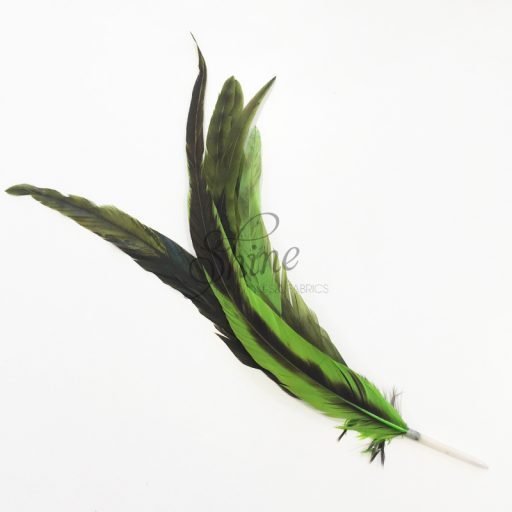 Extra Large Two Tone Cocktail Spike 30-35cm Lime
