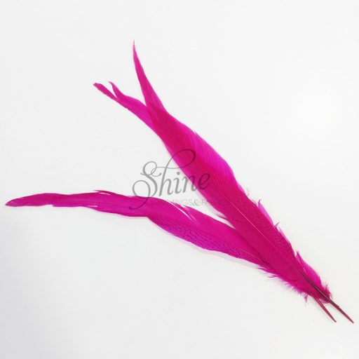 Silver Pheasant Feather Dyed 60cm Cerise