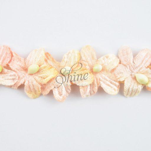 Velvet Flower Trimming Apricot