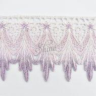 Ombre Victorian Scallop Lace White/Mauve