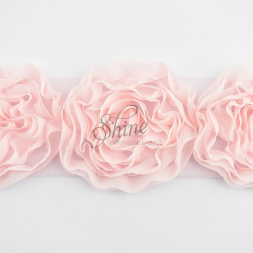 X-Large Chiffon Flower Trim Pale Pink