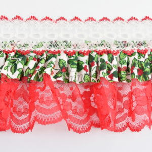 Christmas Dolls Lace Red