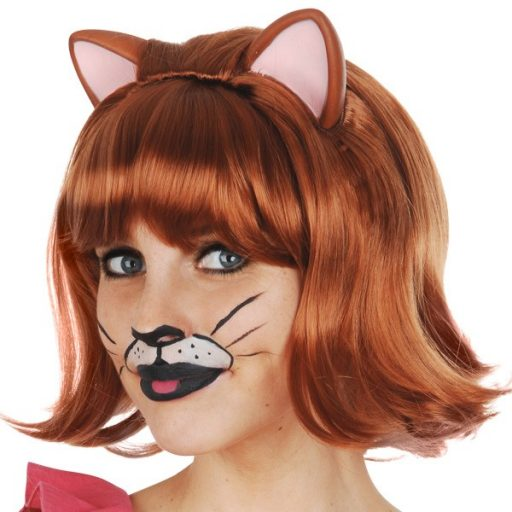 Ginger Cat Auburn Deluxe Wig with Ears
