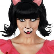Midnight Cat Black Deluxe Wig with Ears