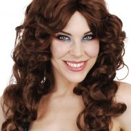 Caroline Brown Curly Wig