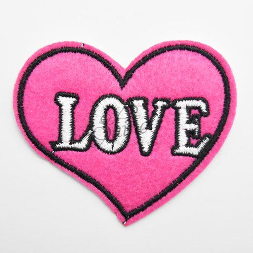 Love Heart Iron On Motif