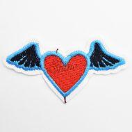 Flying Heart Iron On Motif