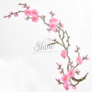 Cherry Blossom Iron On Motif Pink