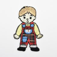 Boy Iron On Embroidered Motif
