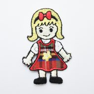 Girl Iron On Embroidered Motif