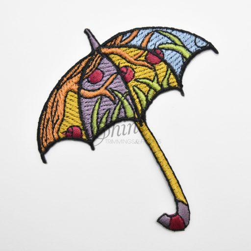 Umbrella Iron On Embroidered Motif