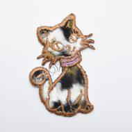 Curious Cat Iron On Motif