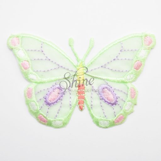 Butterfly Iron On Embroidered Motif Mint