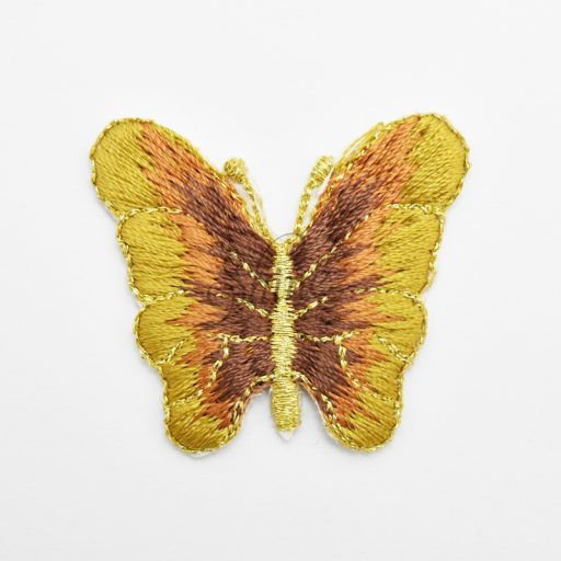 Butterfly w/Gold Lurex Yellow