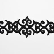 Fleur de lis Iron On Embroidered Trimming Black