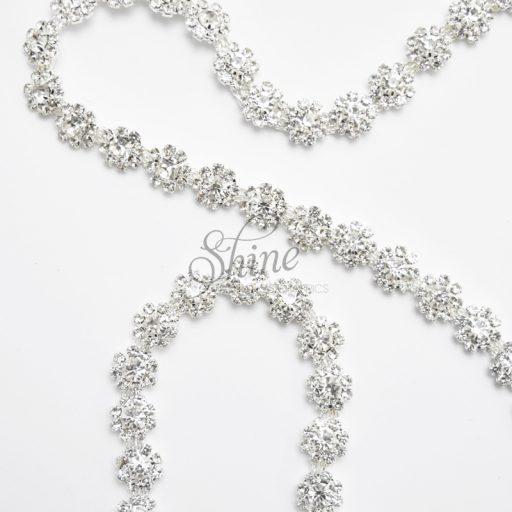 Daisy Chain Glass Diamante Trimming