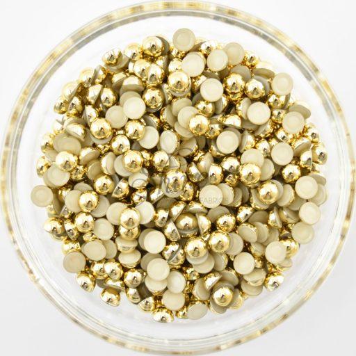 Flatback Pearl 6mm Gold