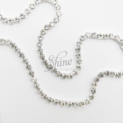 Diamante Banding Silver Crystal