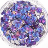 Plastic Purple Sew On Stones