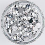 Plastic Silver Sew On Stones