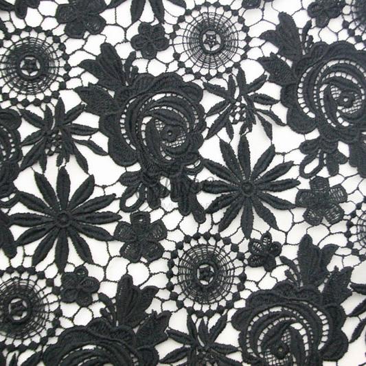 Guipure Lace Black