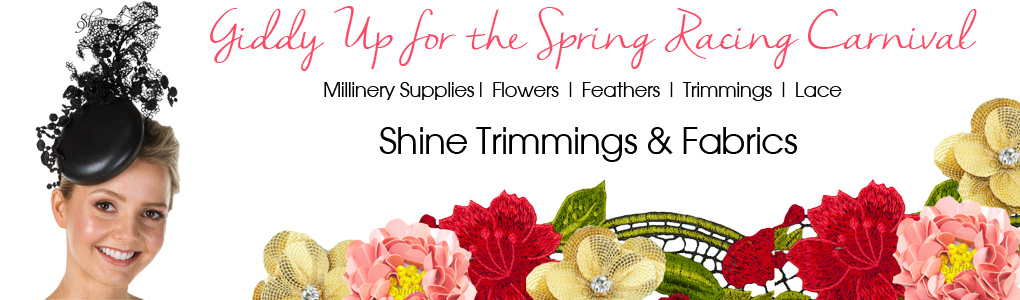 Spring Racing Carnival- Millinery supplies, hats and facinators
