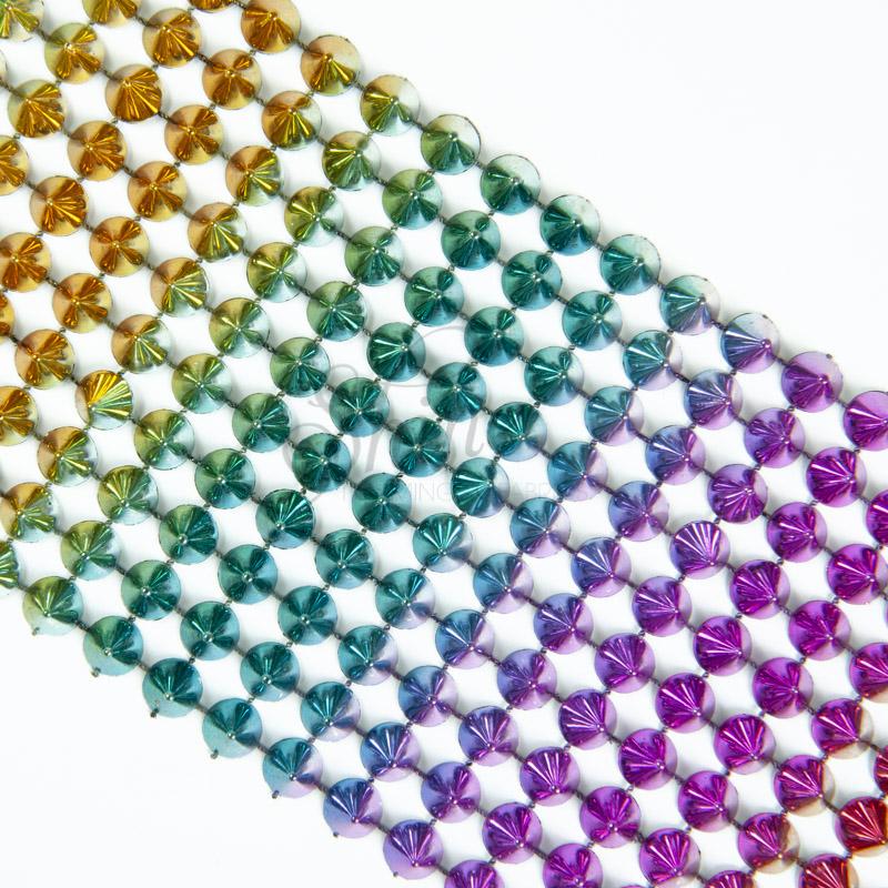 Cone Stud Trim – 10 Row – Rainbow