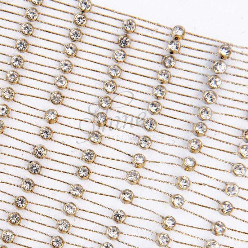 crystal trim diamante mesh