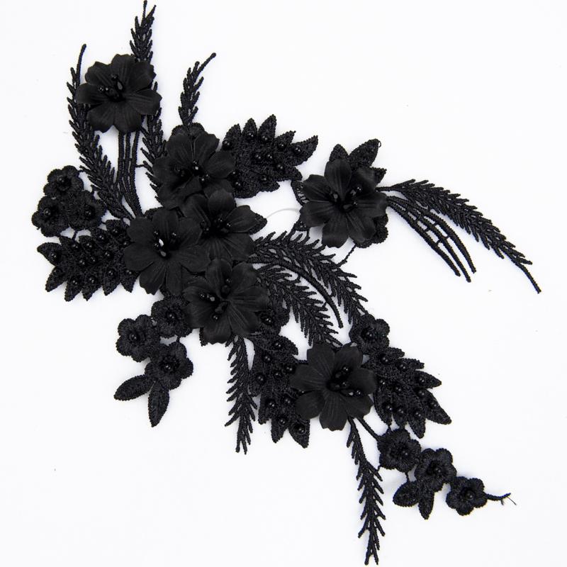 Lace 3D black motif